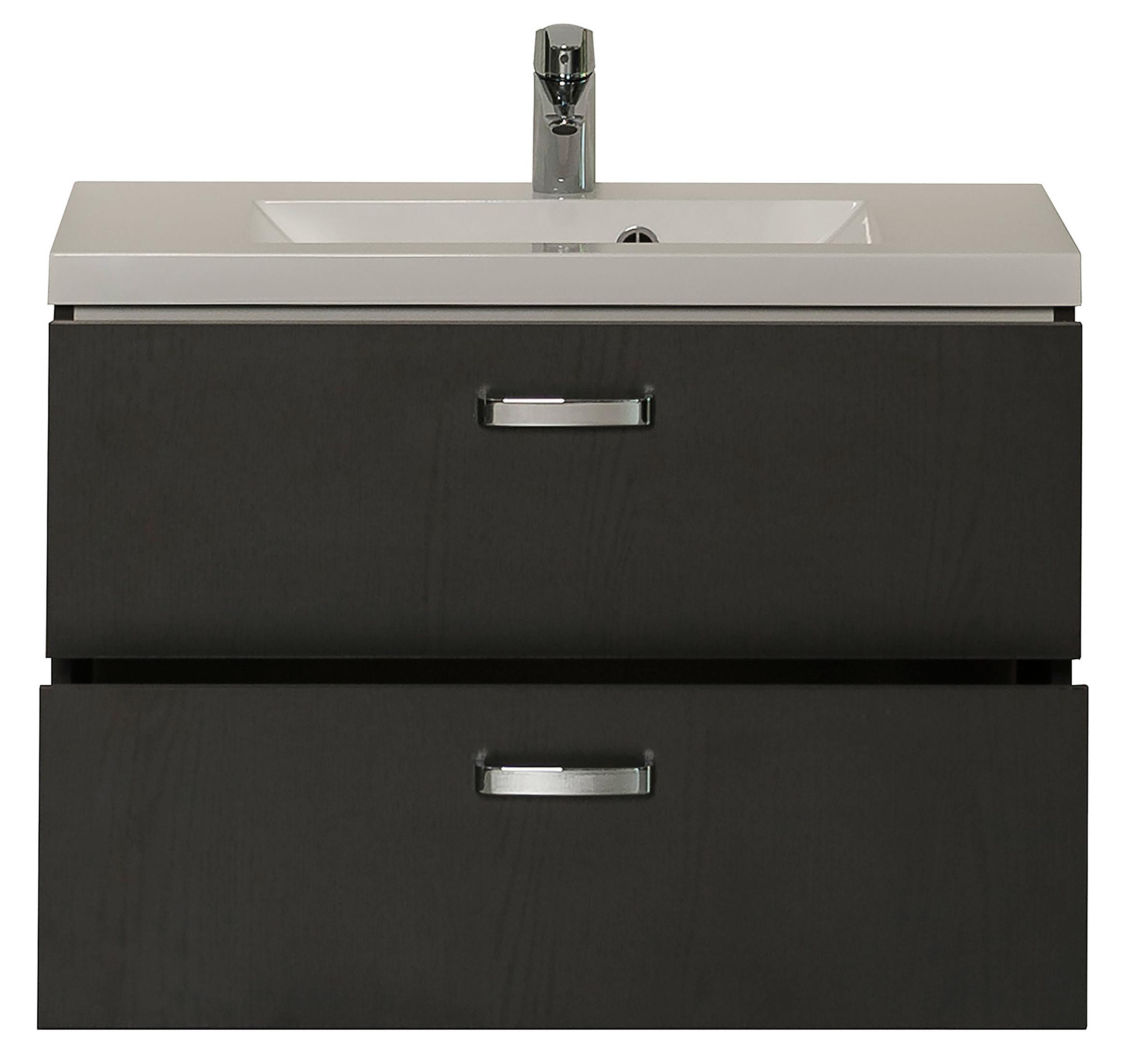 badm bel set montreal mit spiegel 4 teilig 80 cm breit grau bad badm belsets. Black Bedroom Furniture Sets. Home Design Ideas