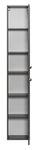 Badmöbel-Set MONTREAL mit Spiegelschrank, Regal - 6-teilig - 115 cm breit - Grau