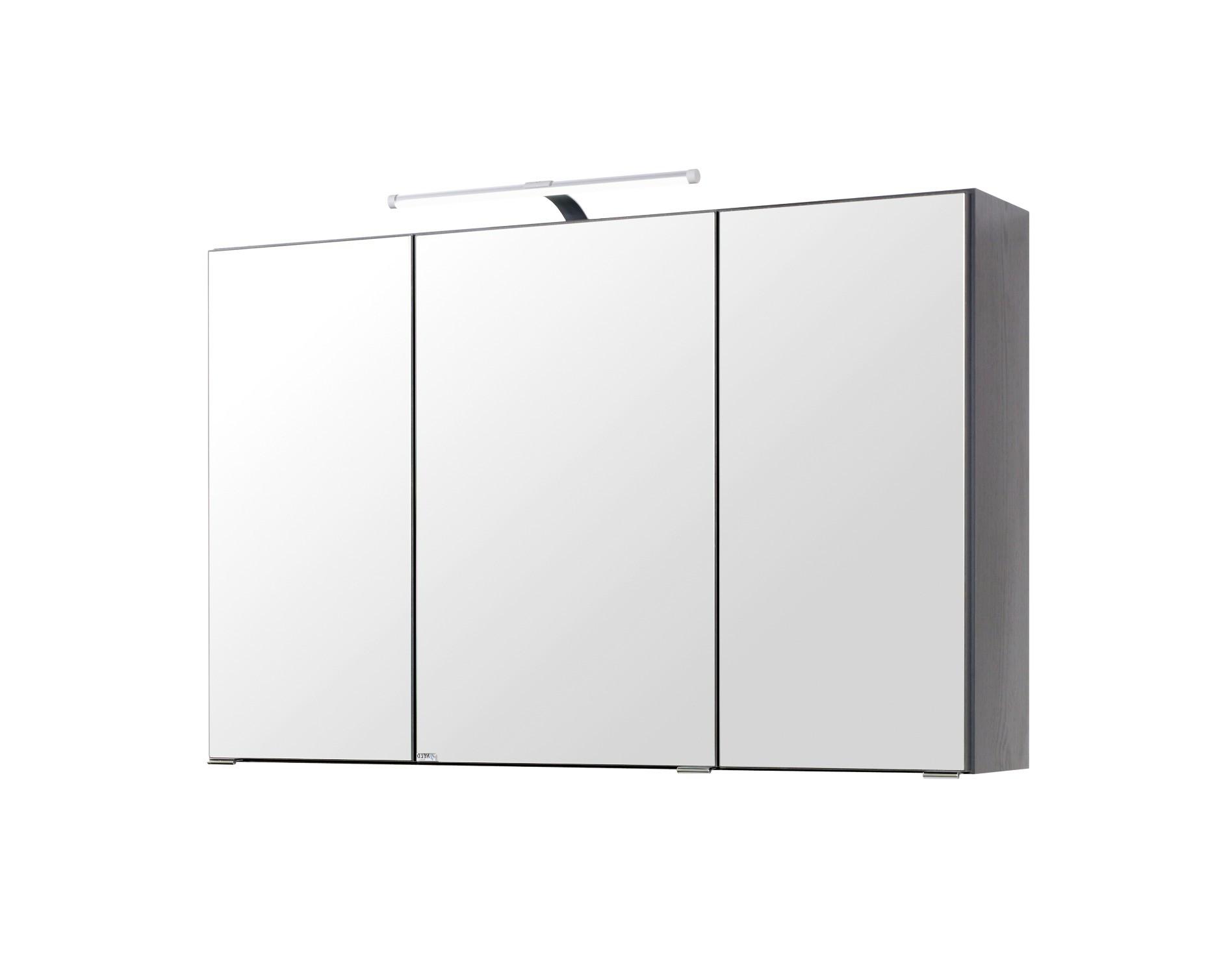 Bad-Spiegelschrank - 3-türig - 100 cm breit - Graphitgrau Bad ...