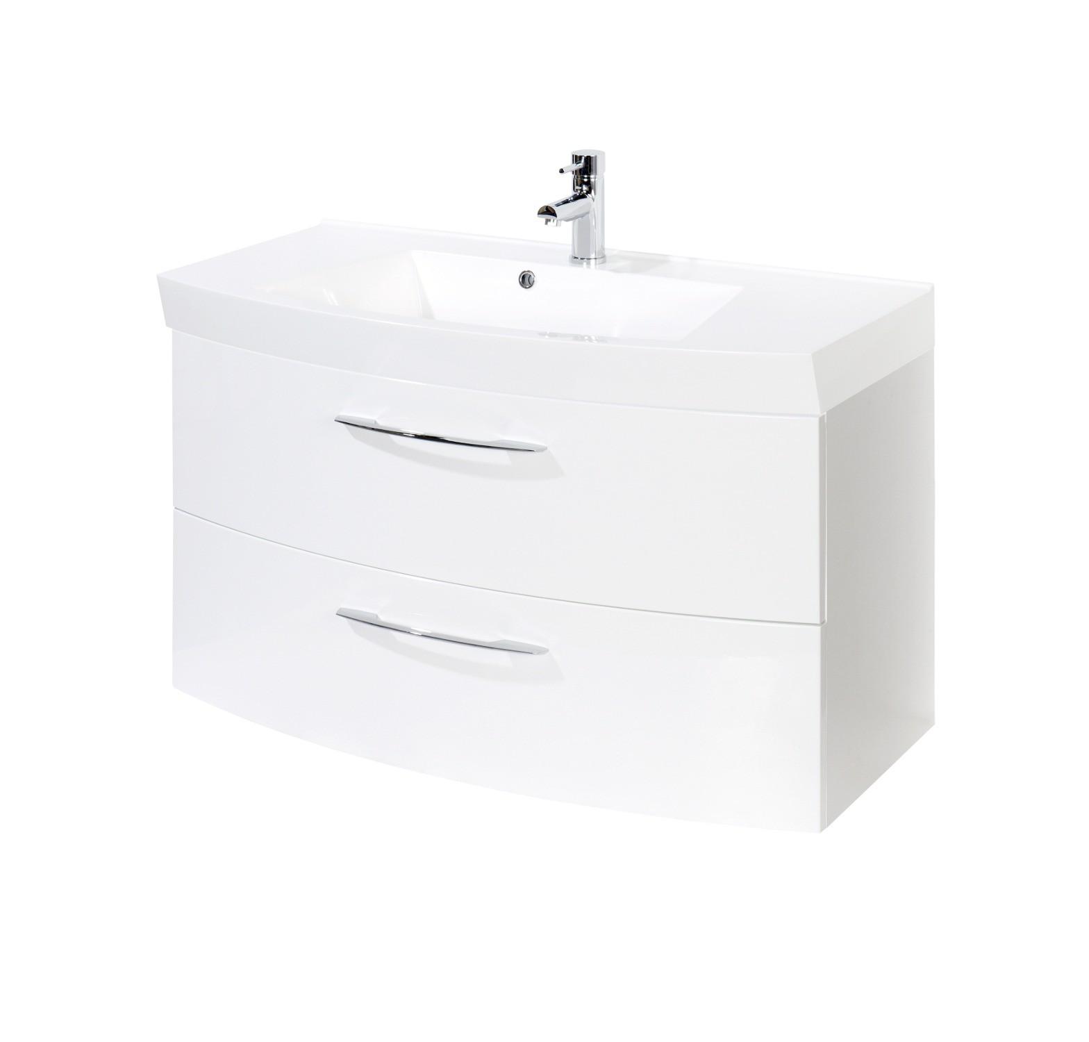 Bad waschtisch florida 2 ausz ge 100 cm breit for Bad waschtisch