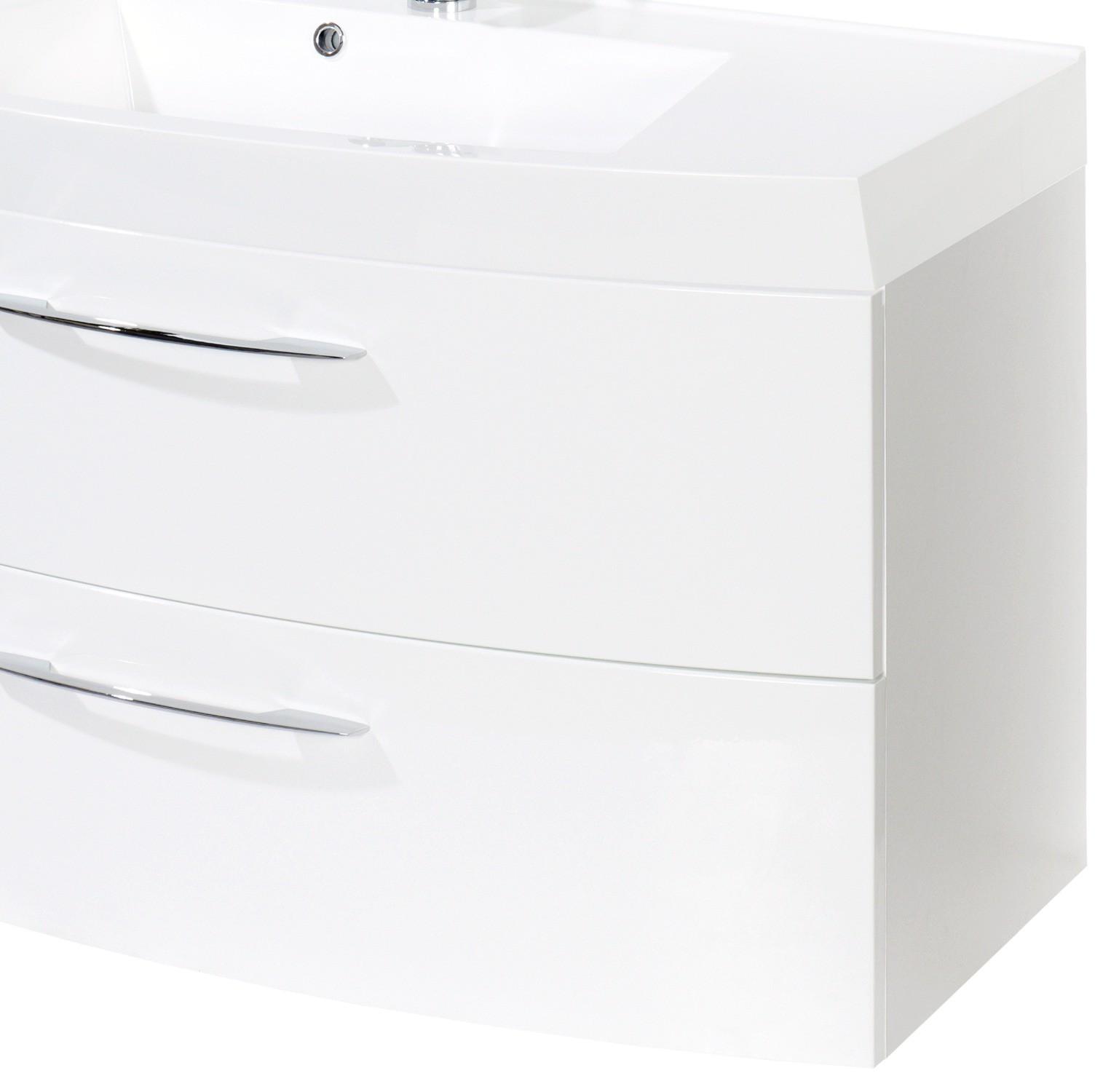 badm bel set florida 4 teilig 100 cm breit 2 ausz ge hochglanz wei bad badm belsets. Black Bedroom Furniture Sets. Home Design Ideas