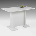 Esstisch INES III - Tischplatte 108 x 68 cm - Weiß