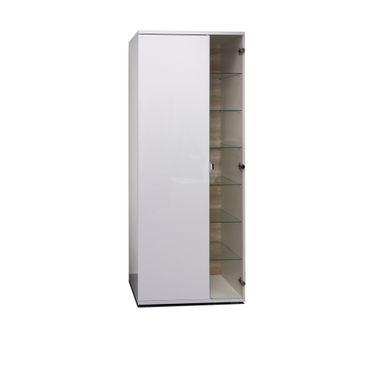 Vitrine MARIE - 2-türig - 70 cm breit - Weiß / Glas