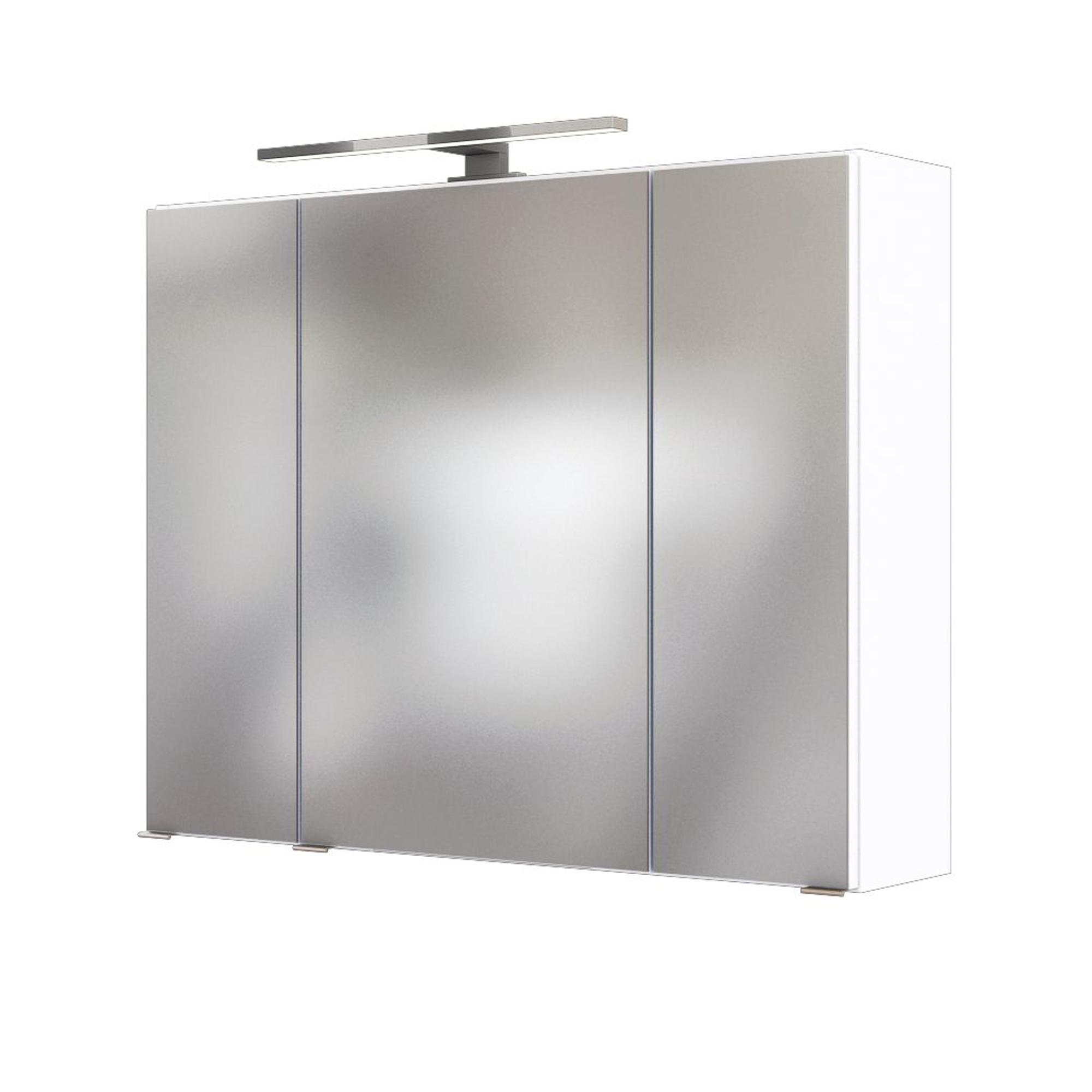 Bad Spiegelschrank 3 Turig Mit Beleuchtung 80 Cm Breit Weiss Einrichtung Fur Jeden Geschmack Bei Moebel Guenstig De