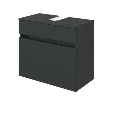 Bad-Waschbeckenunterschrank BAABE - 1 Auszug - 60 cm breit - Grau Matt