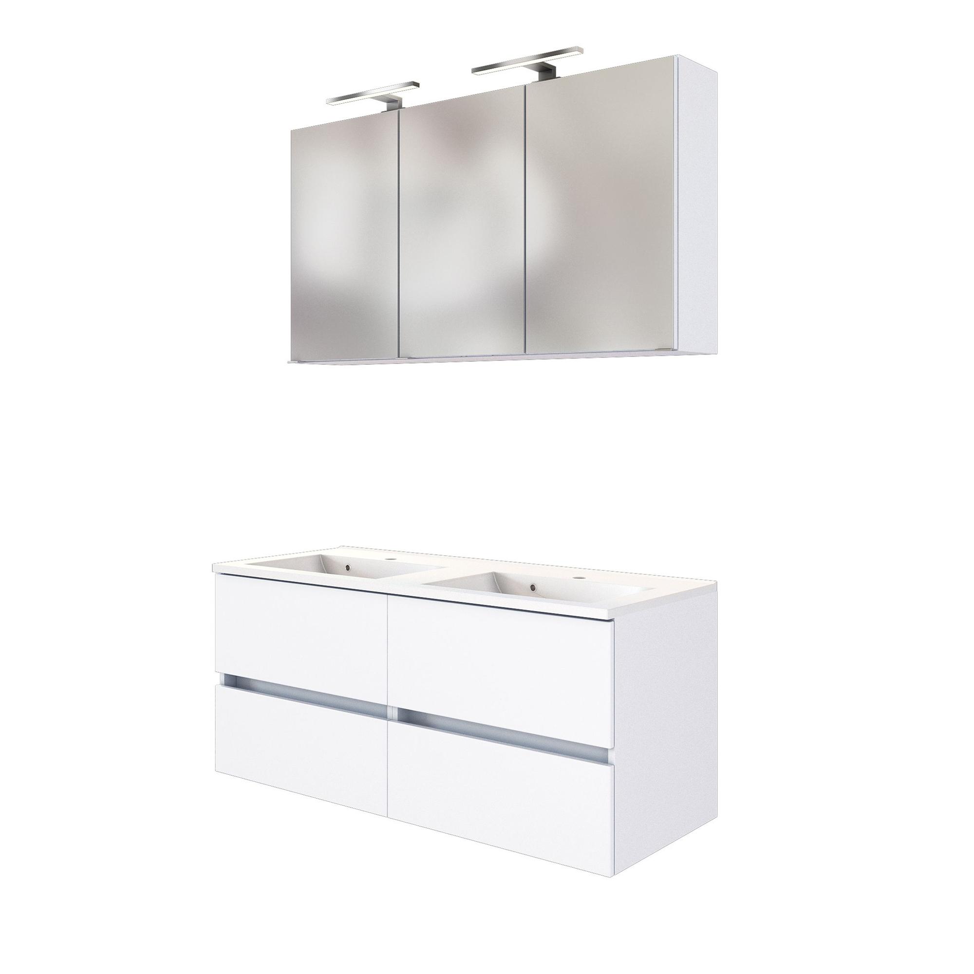 Waschtisch Mit Unterschrank Spiegelschrank Led Lampe Waschplatz