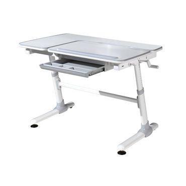 Schreibtisch COMFORTLINE - höhenverstellbar - 119 cm breit - Grau / Weiß