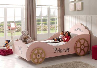 Kutschenbett PRINCESS - Liegefläche 90 x 200 cm - Rosa