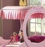 Kutschenbett ROYAL PRINCESS 2 - Liegefläche 90 x 200 cm - Rosa