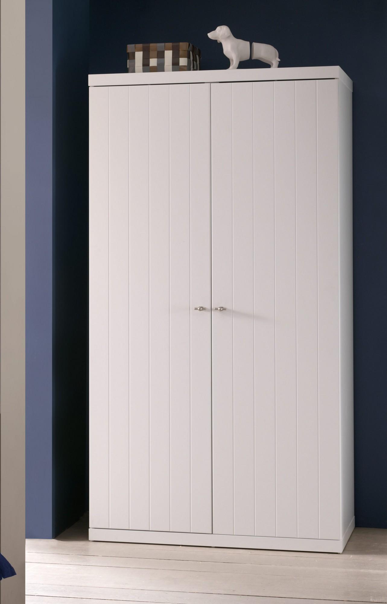 Kleiderschrank ROBIN   2 Türig   Weiß