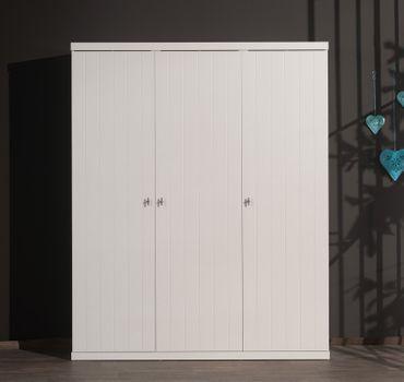 Kleiderschrank ROBIN - 3-türig - Weiß