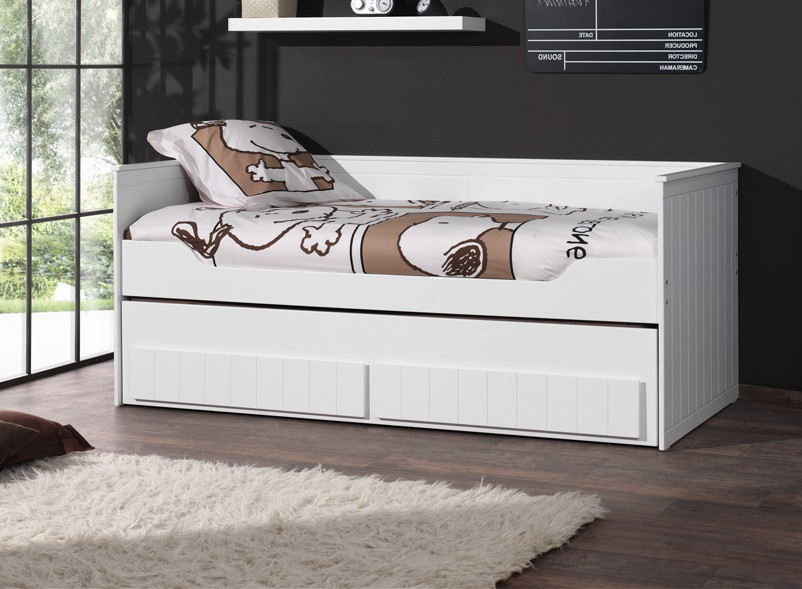 kojen etagenbett robin 2 x liegefl che 90 x 200 cm wei kinder jugendzimmer funktionsbetten. Black Bedroom Furniture Sets. Home Design Ideas