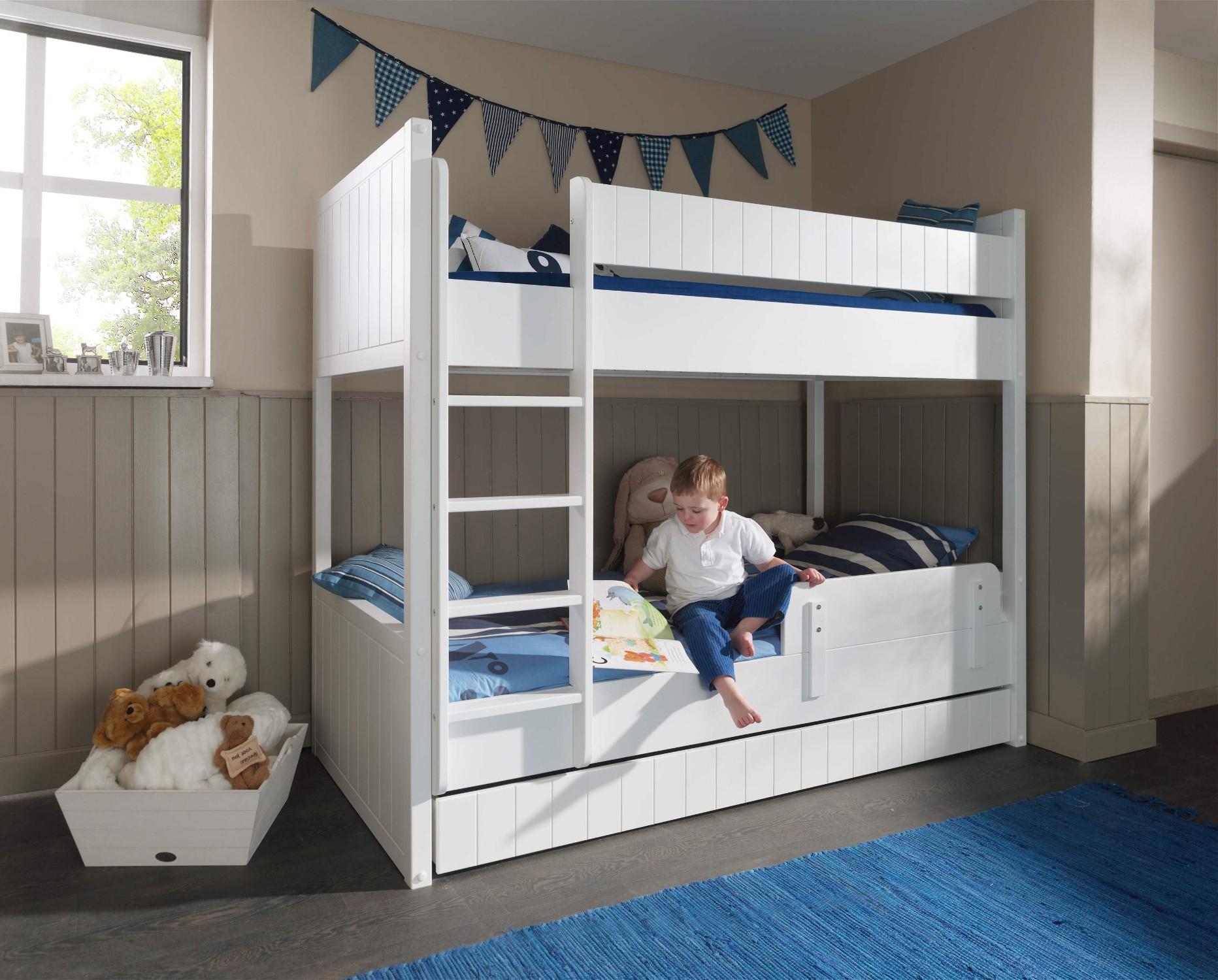 Etagenbett Weiß Für Kinder : Kinderzimmer robin komplett mit etagenbett bettschublade und