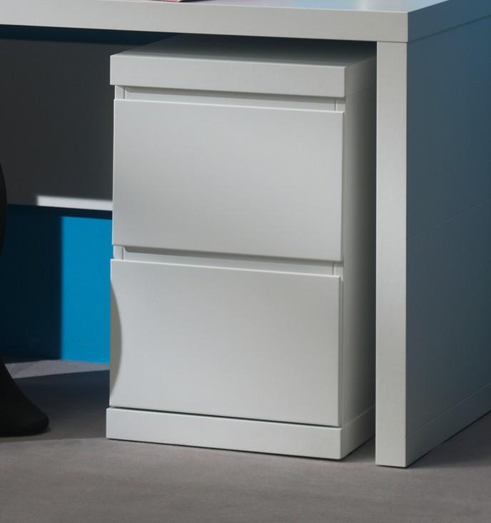 schreibtisch container lara 2 schubladen wei kinder jugendzimmer schreibtische. Black Bedroom Furniture Sets. Home Design Ideas