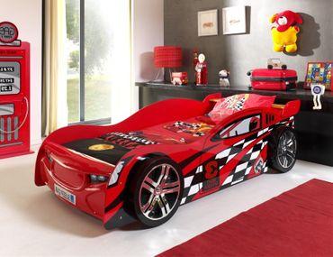 Autobett NIGHT SPEEDER - Liegefläche 90 x 200 cm - Rot