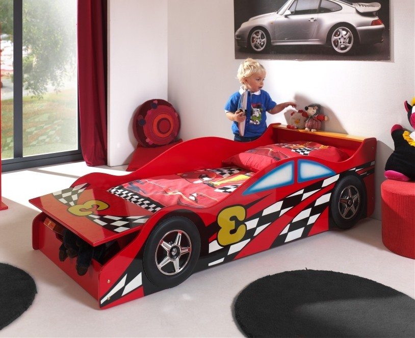 autobett race car 3 liegefl che 70 x 140 cm rot kinder. Black Bedroom Furniture Sets. Home Design Ideas