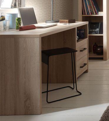 Schreibtisch ALINE - 2 Schubladen -  Eiche Sonoma-Sonoma