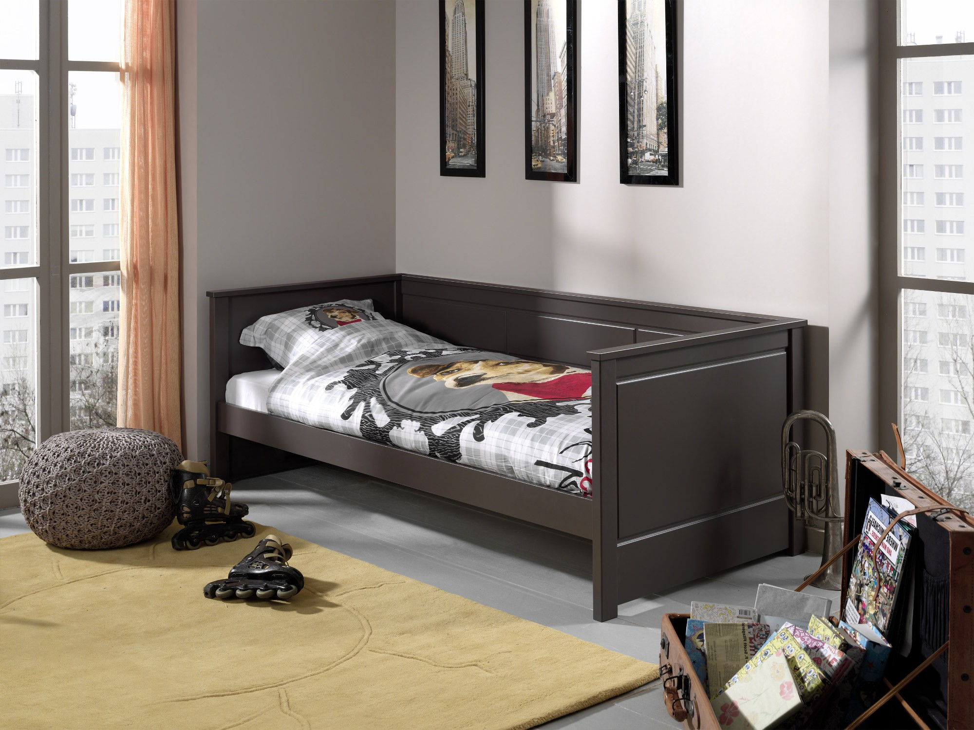 kojenbett pino liegefl che 90 x 200 cm kiefer. Black Bedroom Furniture Sets. Home Design Ideas