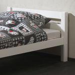 Einzelbett PINO - Liegefläche 90 x 200 cm - Kiefer Massiv Weiß