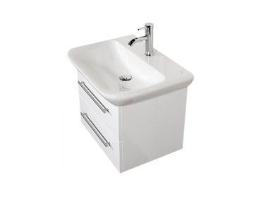 Bad-Waschtisch mit KERAMAG Becken myDay - 2 Auszüge - 65 cm breit - Weiß