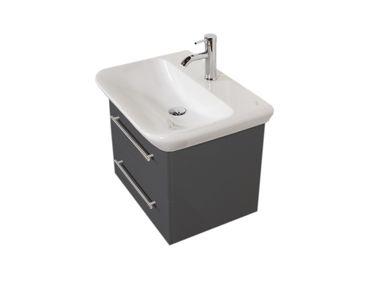 Bad-Waschtisch mit KERAMAG Becken myDay - 2 Auszüge - 65 cm breit - Grau