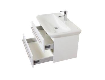 Bad-Waschtisch mit KERAMAG Becken myDay - 2 Auszüge - 80 cm breit - Weiß