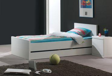 Jugendzimmer LARA - komplett mit Einzelbett, Bettschublade und Nachtkonsole