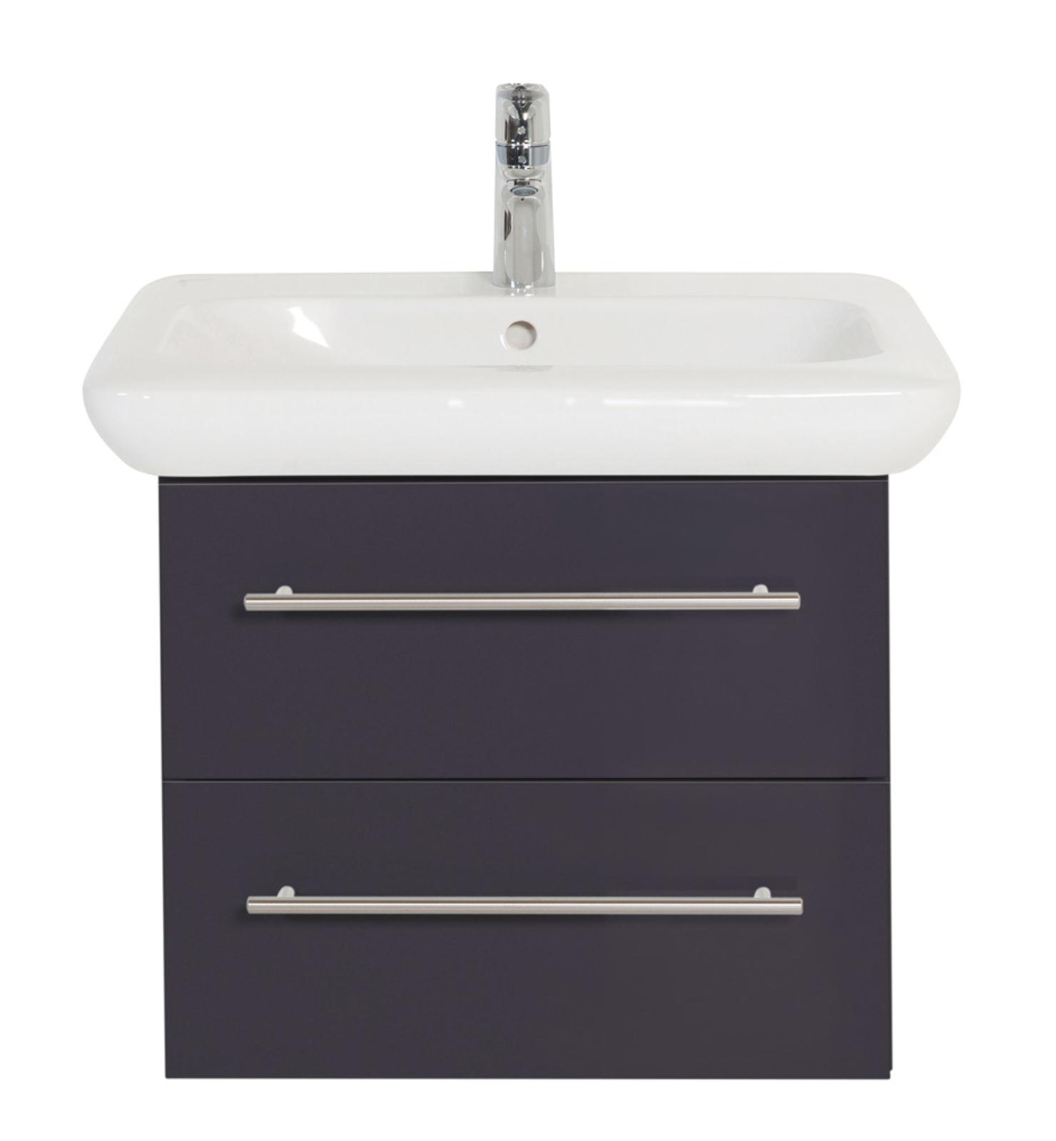 waschbecken mit unterschrank 60 cm ausz ge waschtischunterschrank grau gl nzend ebay. Black Bedroom Furniture Sets. Home Design Ideas
