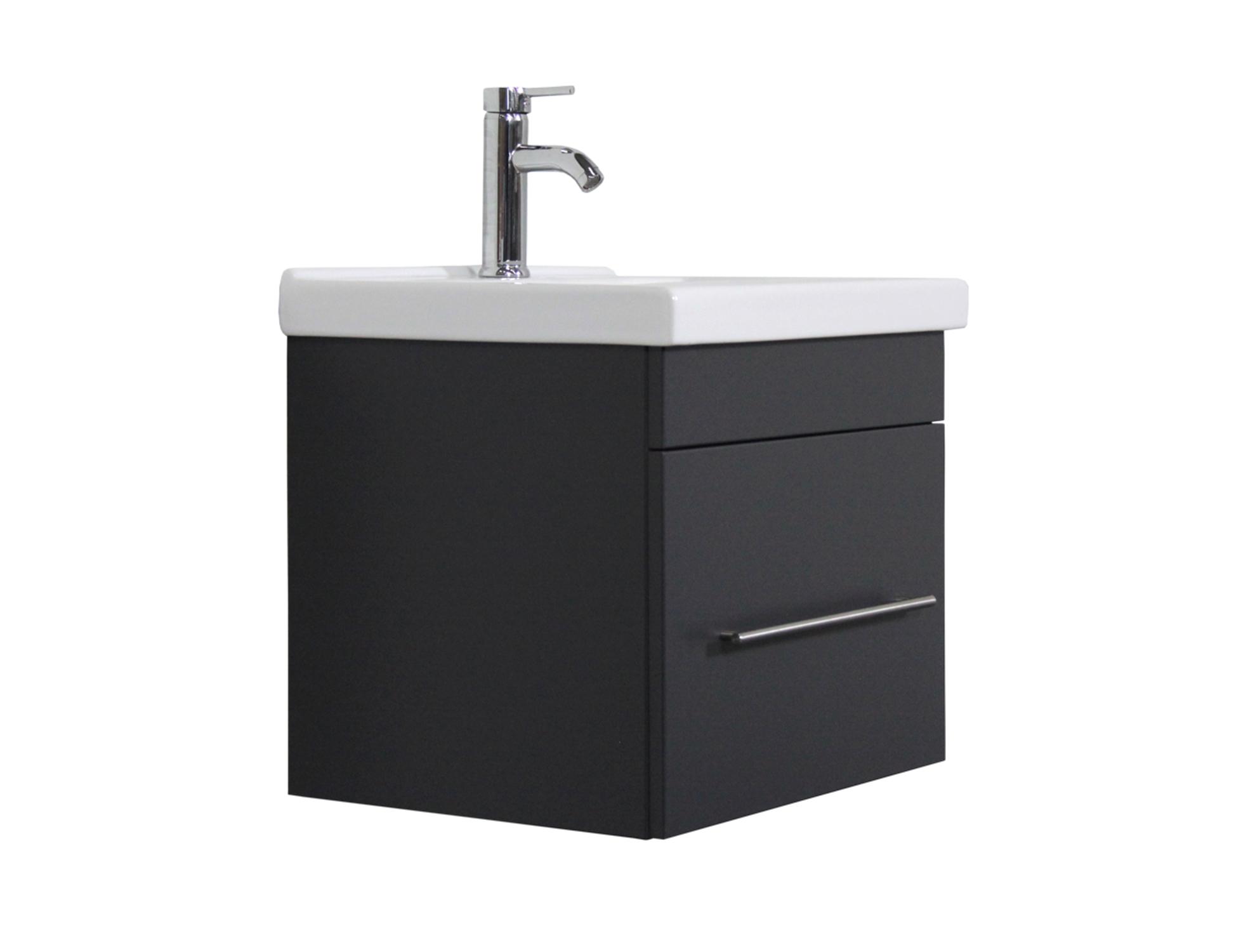 bad waschtisch galia 2 ausz ge 55 cm breit grau gl nzend bad waschtische. Black Bedroom Furniture Sets. Home Design Ideas