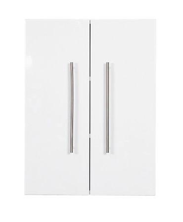 Bad-Hängeschrank LEVIA - 2-türig - 53 cm breit - Hochglanz Weiß