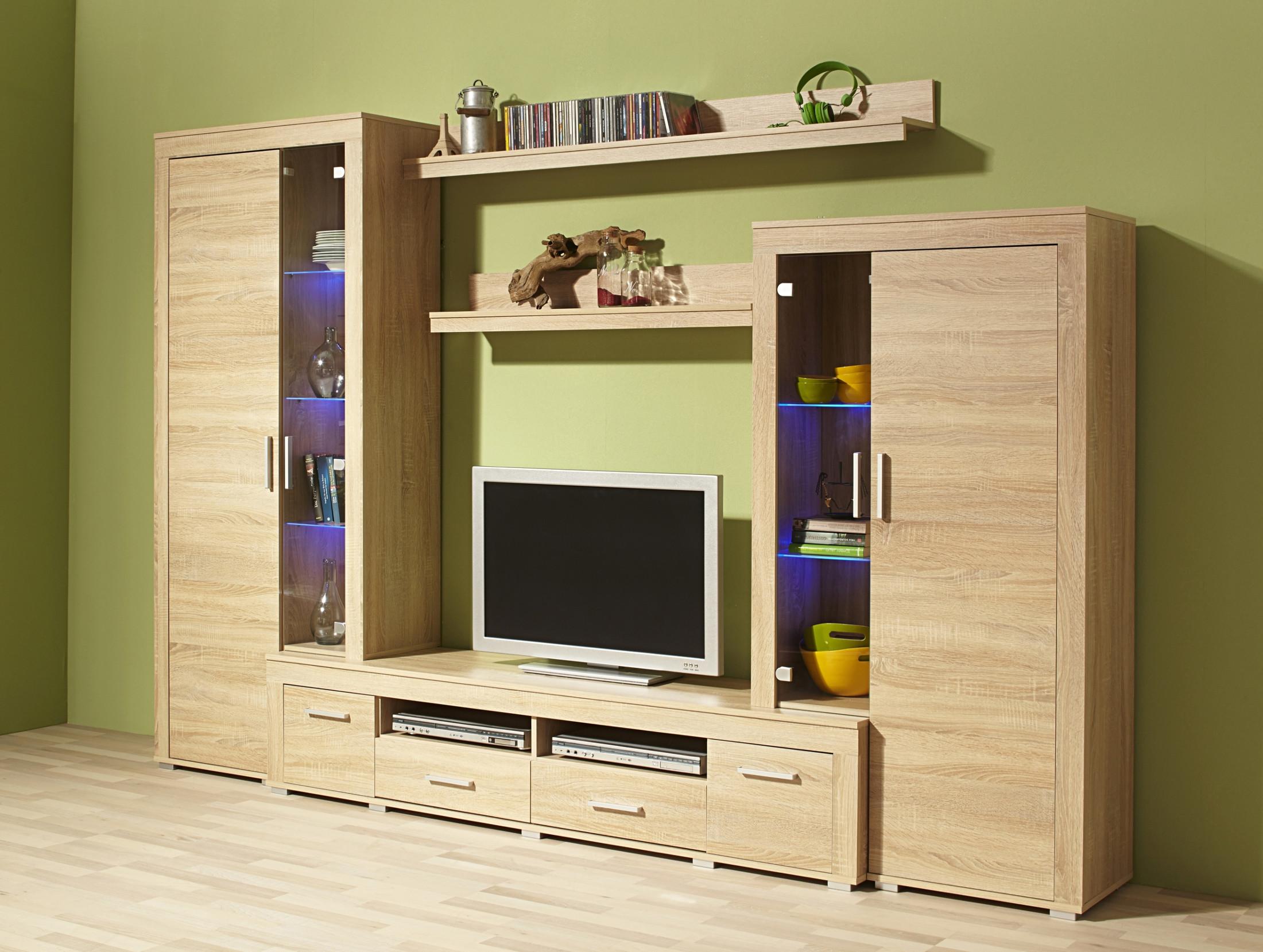 wohnwand malm fix schrankwand anbauwand wohnzimmer 280 cm. Black Bedroom Furniture Sets. Home Design Ideas