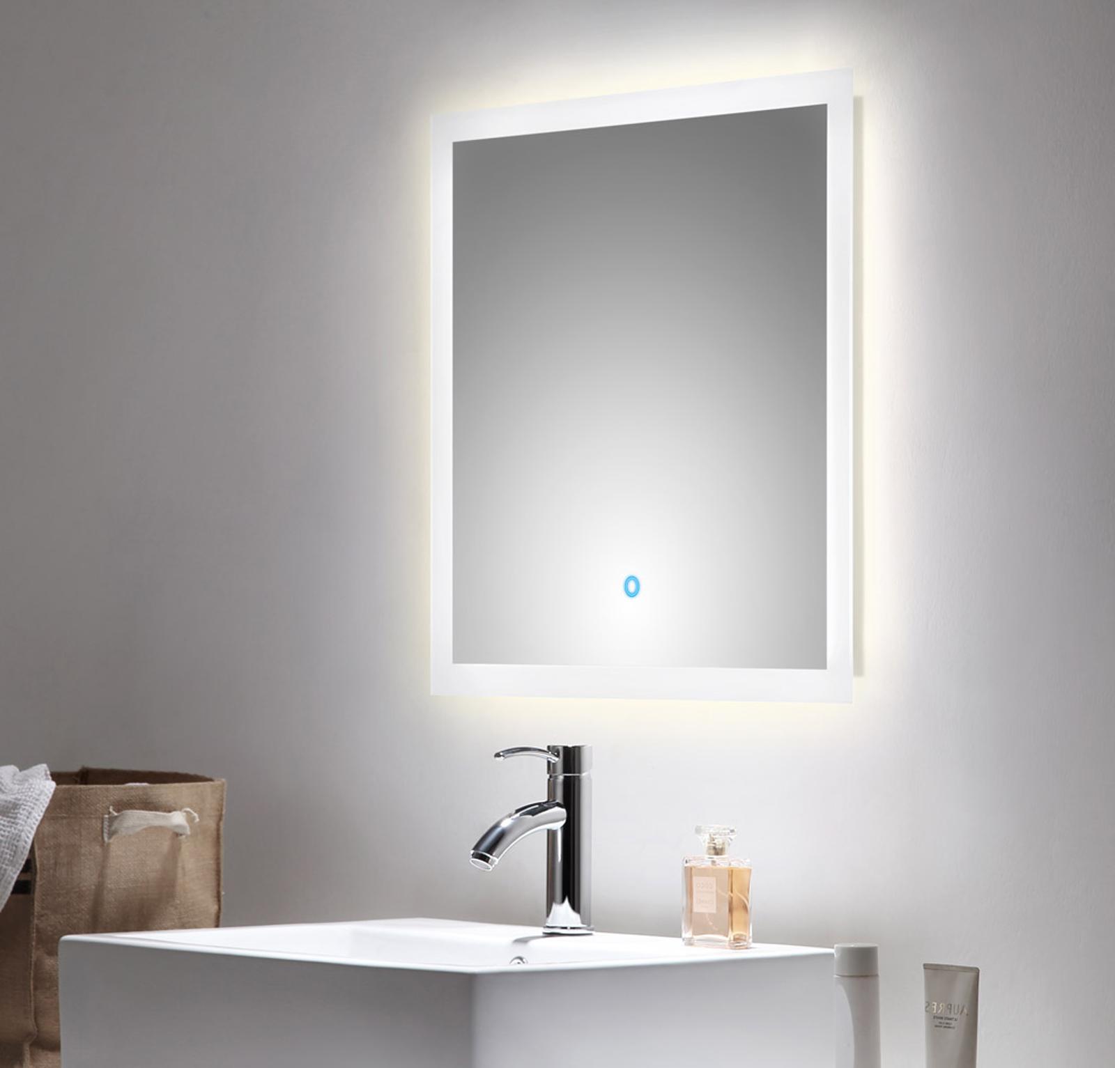 Bad spiegel levia mit led touch steuerung 60 cm breit for Spiegel id