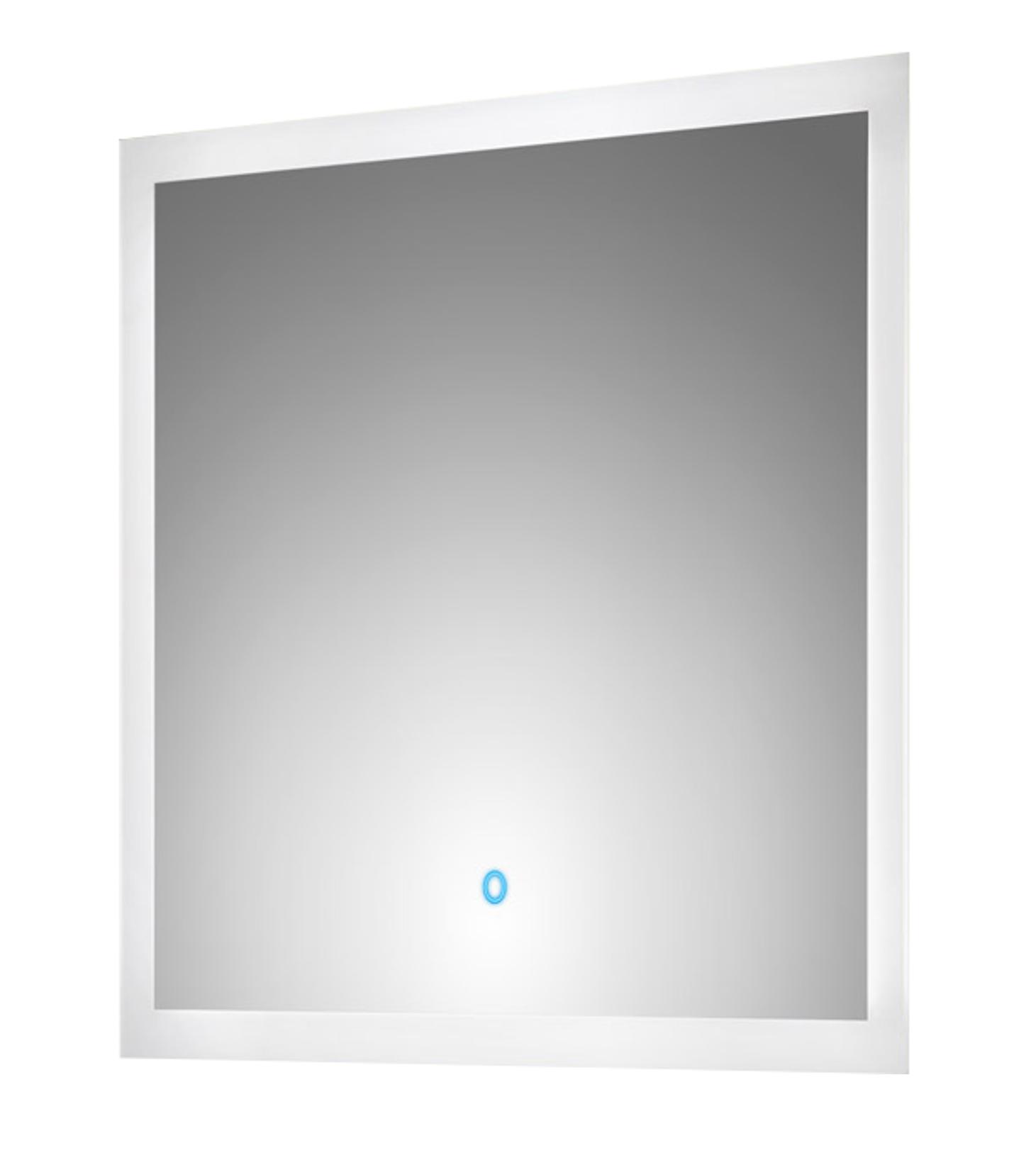 bad spiegel levia mit led touch steuerung 70 cm breit wei bad spiegelschr nke. Black Bedroom Furniture Sets. Home Design Ideas