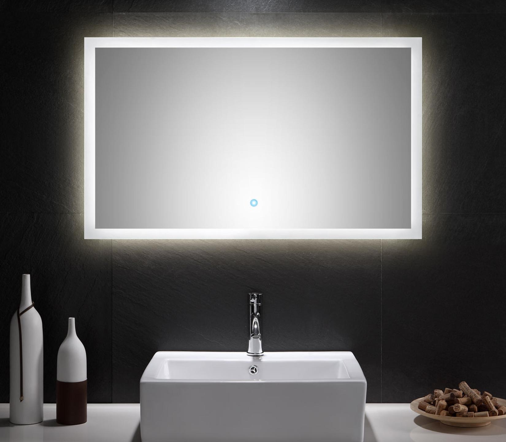 bad spiegel levia mit led touch steuerung 100 cm breit. Black Bedroom Furniture Sets. Home Design Ideas