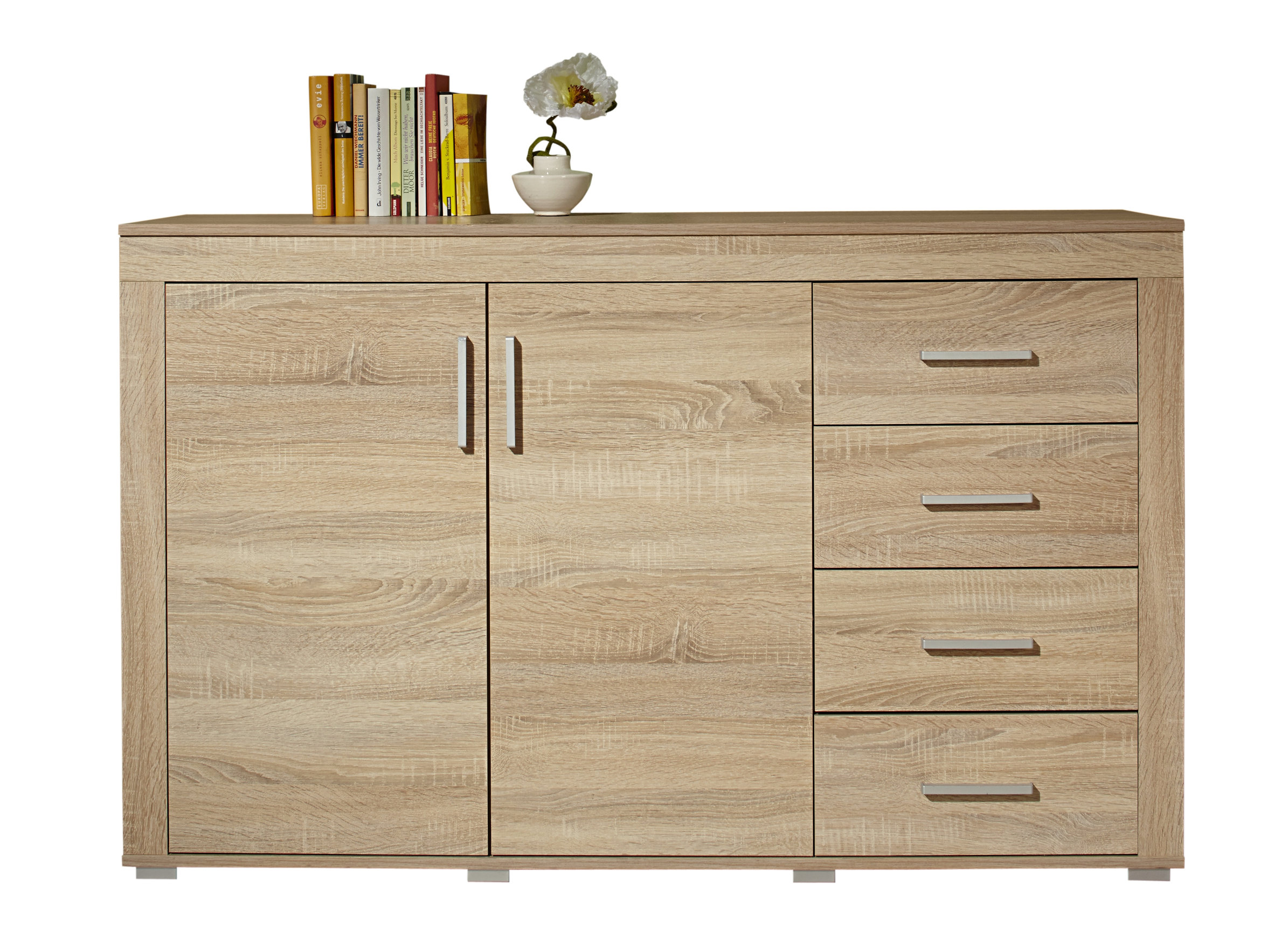 sideboard malm kommode highboard schrank 160 cm eiche sonoma ebay. Black Bedroom Furniture Sets. Home Design Ideas