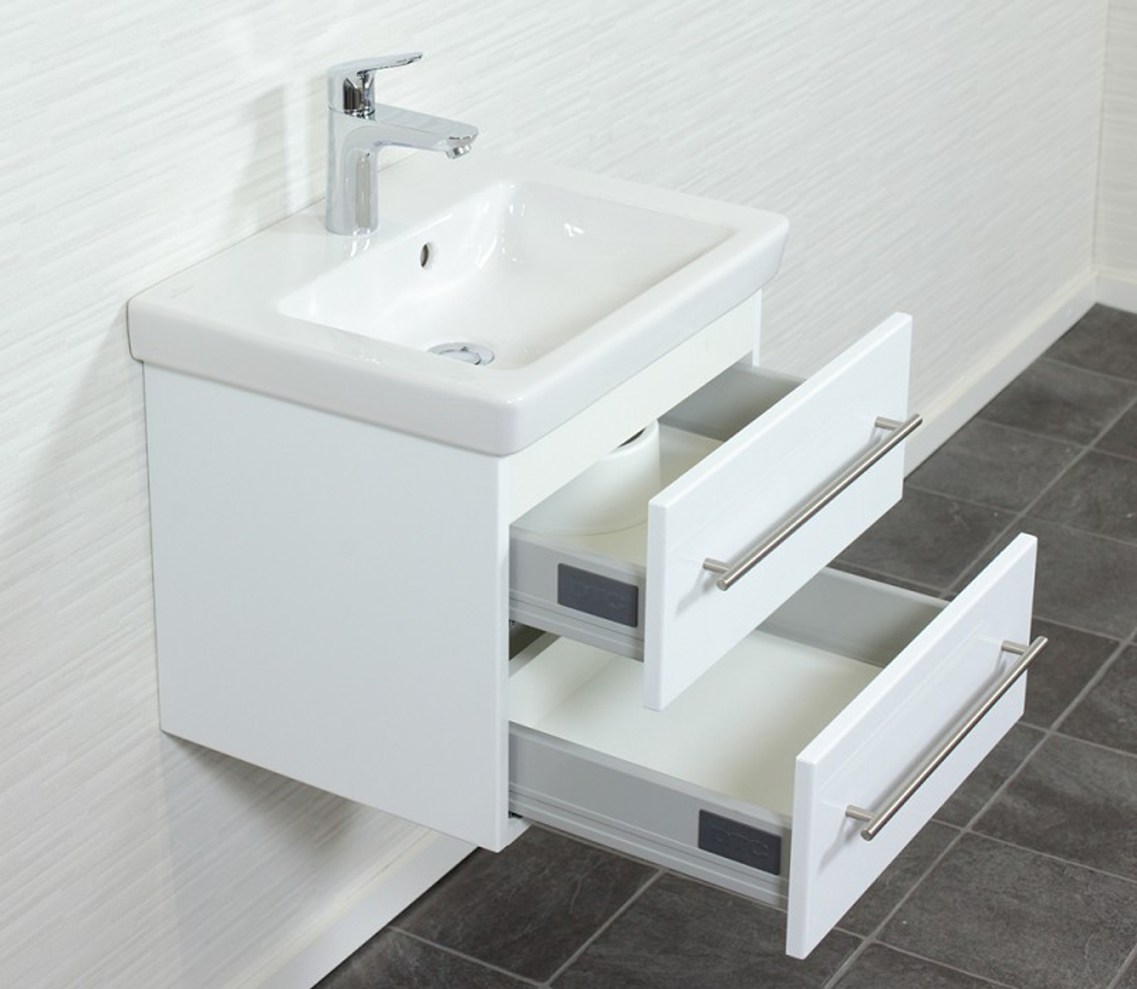 waschtisch unterschrank mit villeroy boch keramikbecken subway 2 0 50 cm weiss ebay. Black Bedroom Furniture Sets. Home Design Ideas