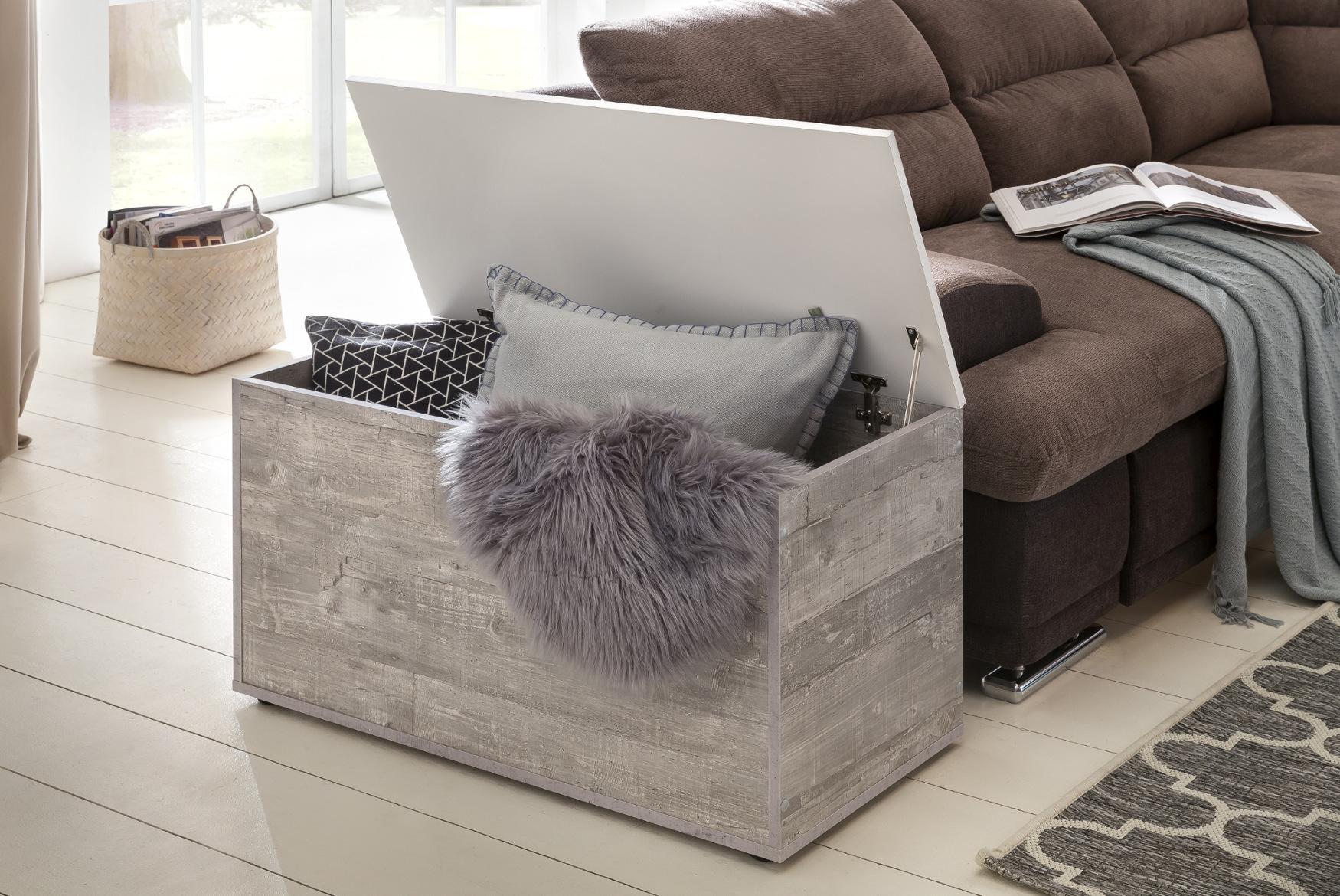 truhe maxi klappdeckel beton grau wohnen diele. Black Bedroom Furniture Sets. Home Design Ideas