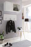 Garderobenset ZOE - mit Hängeschrank - 2-teilig - 80 cm breit - Weiß