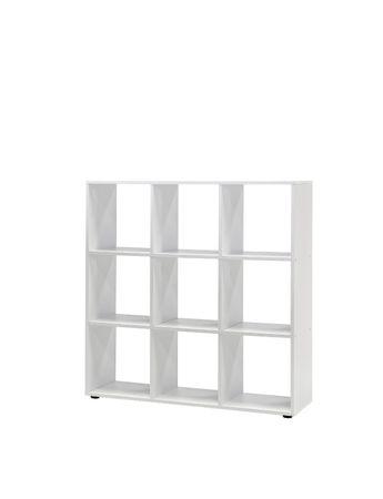 Regal MAIK - Würfelsystem - 9 Fächer - Weiß