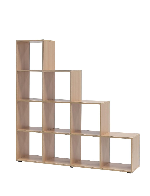 stufenregal maik 10 f cher buche wohnen regale. Black Bedroom Furniture Sets. Home Design Ideas