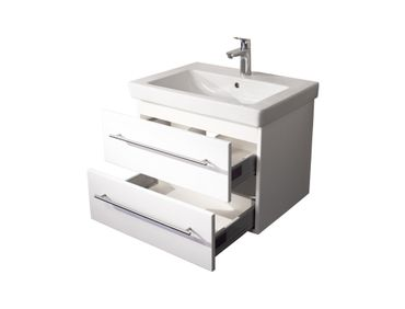 Bad-Waschtisch mit Villeroy & Boch Becken Subway 2.0 - 65 cm breit - Weiß
