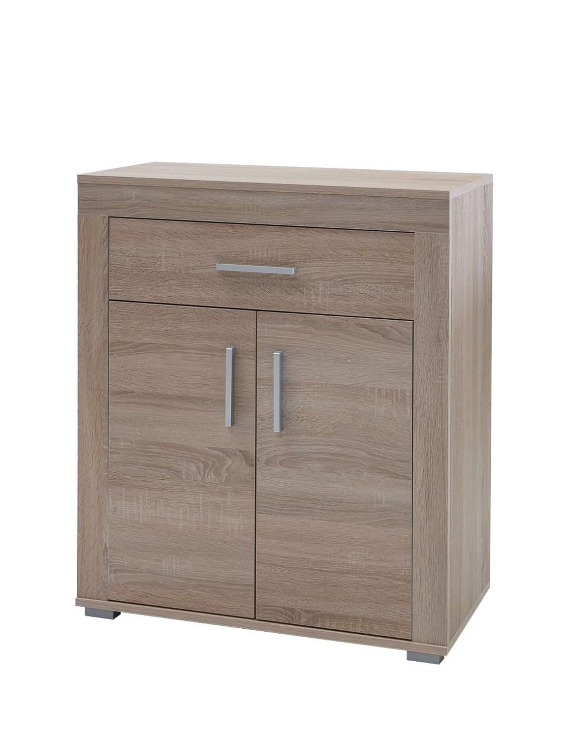 kommode lake schuhschrank garderobe mit schublade und 2 t ren 70 cm sonoma ebay. Black Bedroom Furniture Sets. Home Design Ideas
