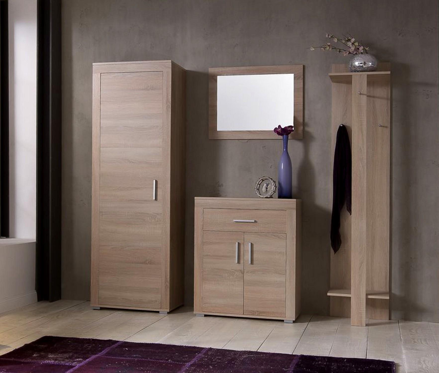 garderobenset lake 170 cm breit 4 teilig eiche sonoma. Black Bedroom Furniture Sets. Home Design Ideas