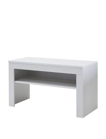 Garderobenbank LAKE - 80 cm breit - Weiß