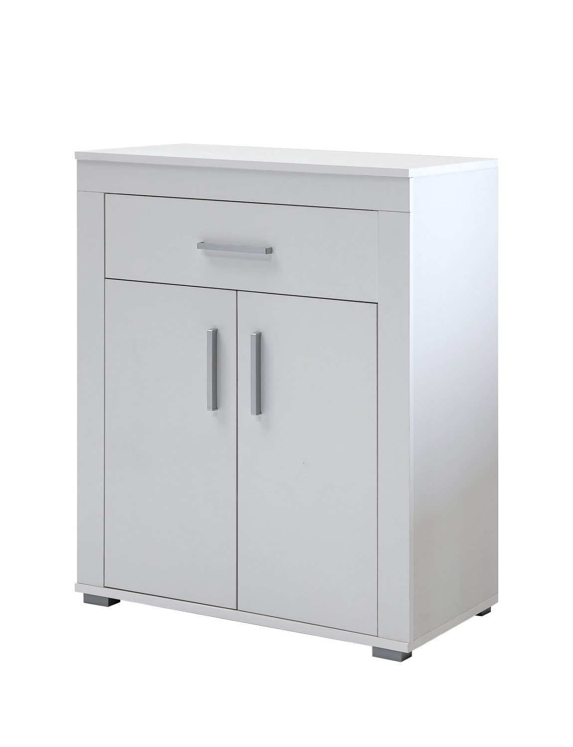 kommode lake schuhschrank garderobe mit schublade und 2 t ren 70 cm weiss ebay. Black Bedroom Furniture Sets. Home Design Ideas