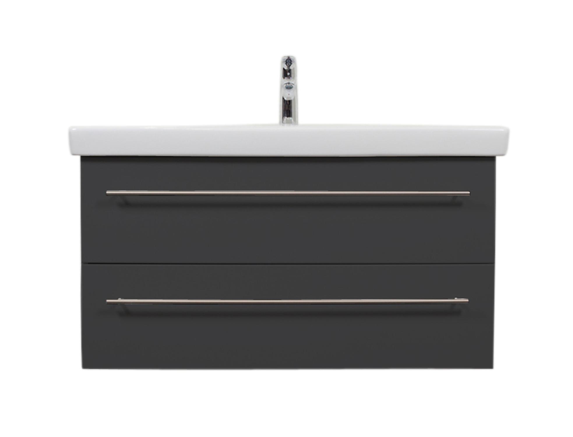 Details zu Villeroy & Boch Waschbecken mit Unterschrank  Waschbeckenunterschrank 100 cm grau