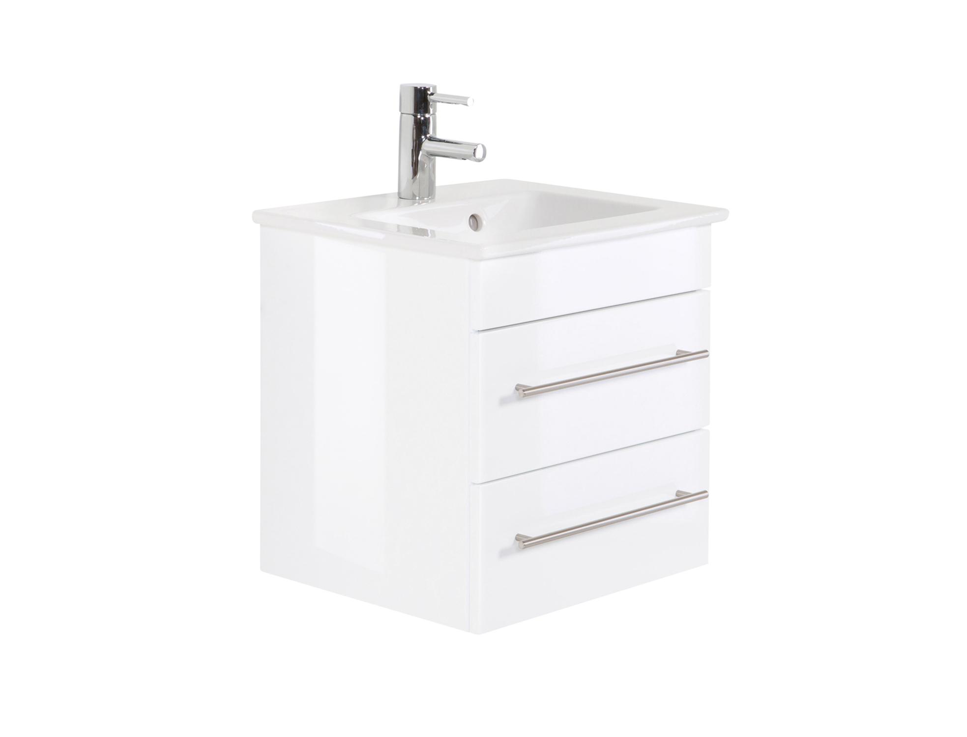 bad waschtisch mit villeroy boch becken venticello 50 cm breit wei bad waschtische. Black Bedroom Furniture Sets. Home Design Ideas