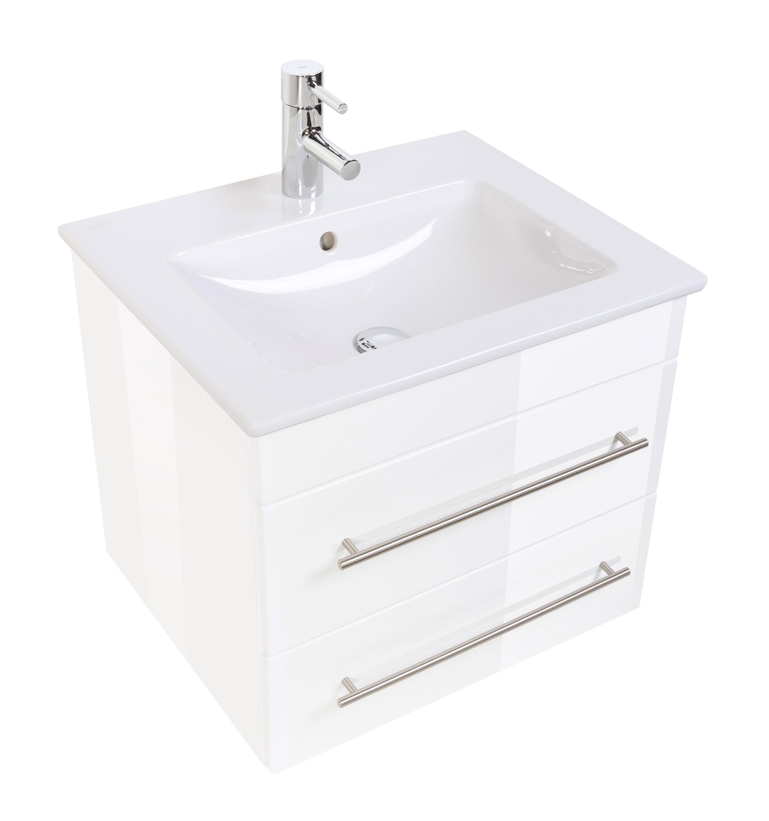 bad waschtisch mit villeroy boch becken venticello 60 cm breit wei bad waschtische. Black Bedroom Furniture Sets. Home Design Ideas