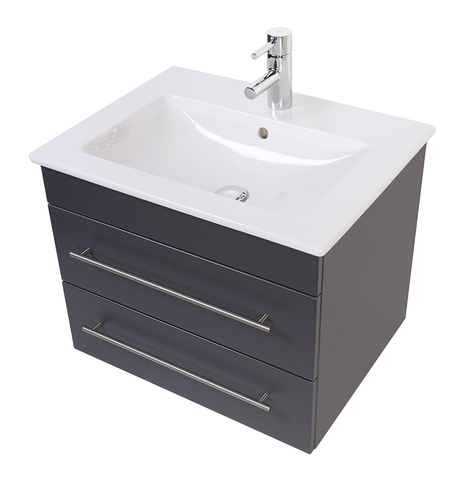 bad waschtisch mit villeroy boch becken venticello 65 cm breit grau bad waschtische. Black Bedroom Furniture Sets. Home Design Ideas