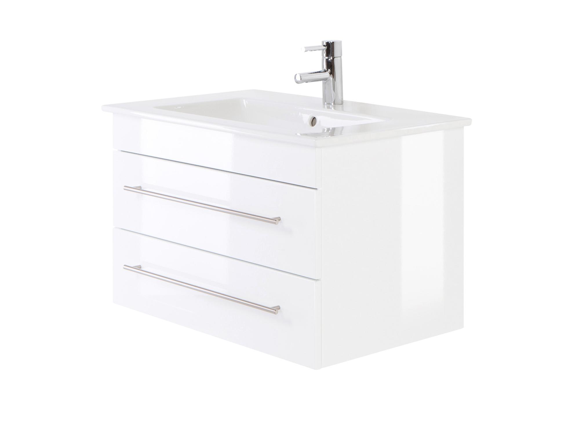 Bad-Waschtisch mit Villeroy & Boch Becken Venticello - 80 cm breit ...